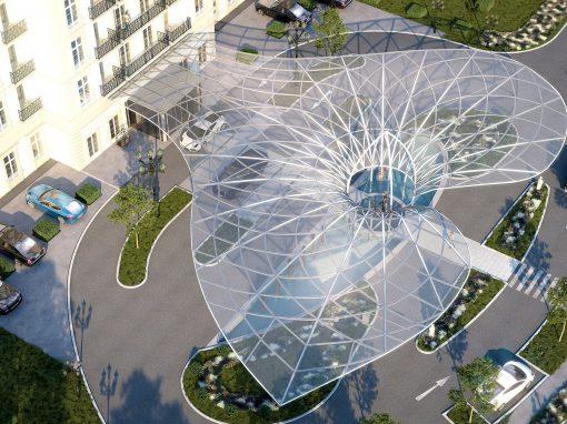 New entrance & canopy Hotel Quellenhof Bad Ragaz – CH